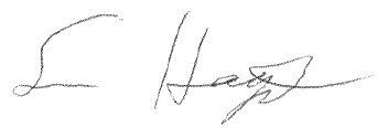 Sean Hagerty signature